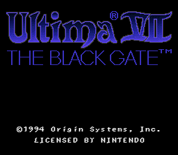 Ultima VII - The Black Gate (Japan) Title Screen