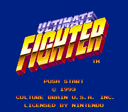 Ultimate Fighter (USA) Title Screen