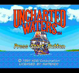 Uncharted Waters (USA) Title Screen