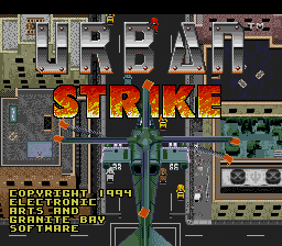 Urban Strike (USA) Title Screen