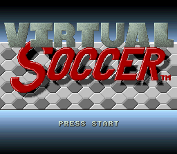 Virtual Soccer (Europe) Title Screen