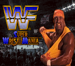 WWF Super WrestleMania (USA) Title Screen