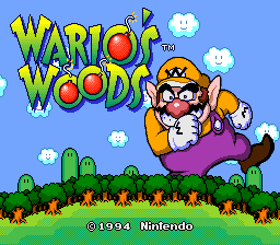 Wario's Woods (Europe) Title Screen