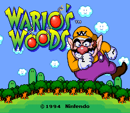 Wario's Woods (USA) Title Screen