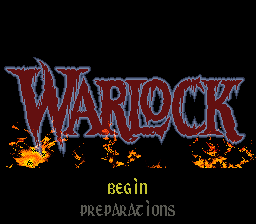 Warlock (Europe) Title Screen