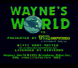 Wayne's World (Europe) Title Screen