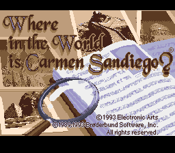 Where in the World is Carmen Sandiego (USA) Title Screen