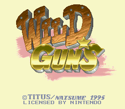 Wild Guns (Europe) Title Screen