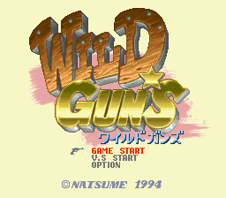 Wild Guns (Japan) Title Screen