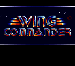 Wing Commander (Japan) Title Screen