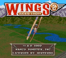 Wings 2 - Aces High (USA) (Beta) Title Screen