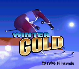 Winter Gold (Europe) Title Screen