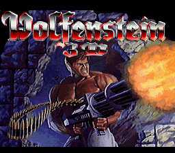 Wolfenstein 3D (Europe) Title Screen