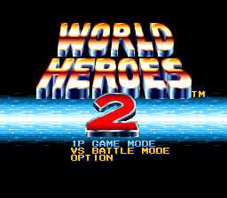 World Heroes 2 (Japan) Title Screen