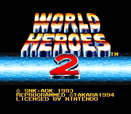 World Heroes 2 (USA) Title Screen