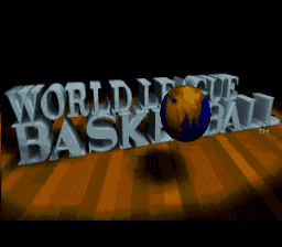 World League Basketball (Europe) Title Screen