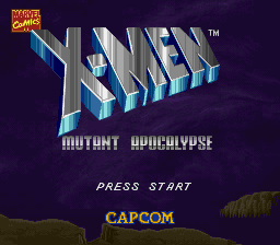 X-Men - Mutant Apocalypse (Europe) Title Screen