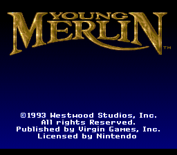 Young Merlin (Europe) Title Screen