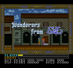 Ys III - Wanderers from Ys (USA) Title Screen