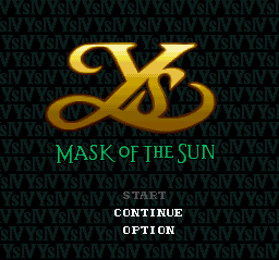 Ys IV - Mask of the Sun (Japan) Title Screen