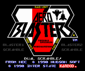 Aero Blasters (USA) Screenshot