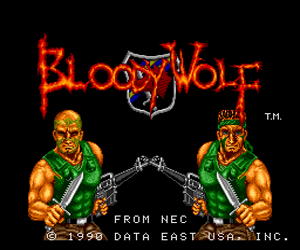 Bloody Wolf (USA) Screenshot