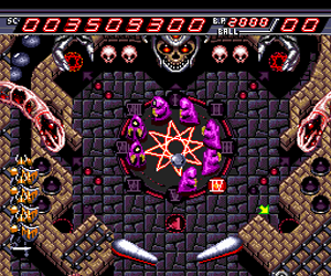 Devil's Crush - Naxat Pinball (USA) Screenshot 1