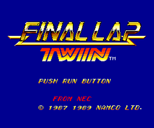 Final Lap Twin (USA) Screenshot