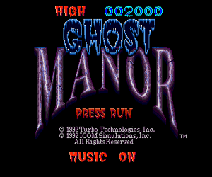 Ghost Manor (USA) Screenshot