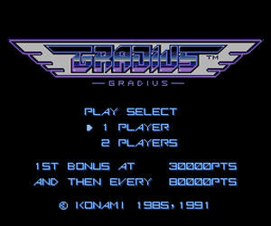 Gradius (Japan) Screenshot