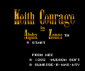 Keith Courage in Alpha Zones (USA) Screenshot