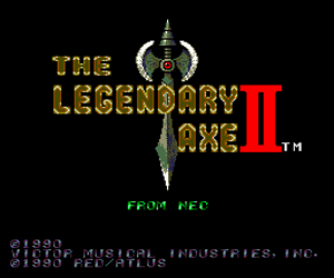 Legendary Axe II, The (USA) Screenshot