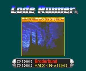Lode Runner - Lost Labyrinth (Japan) Screenshot
