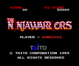 Ninja Warriors, The (Japan) Screenshot