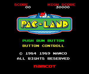 Pac-Land (Japan) Screenshot
