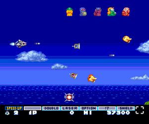 Parodius da! - Shinwa Kara Owarai he (Japan) Screenshot 1