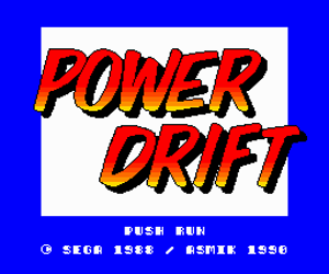 Power Drift (Japan) Screenshot