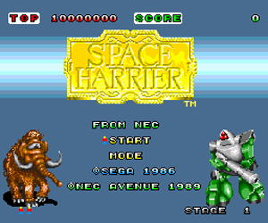 Space Harrier (USA) Screenshot
