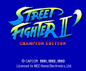 Street Fighter II' - Champion Edition (Japan) Screenshot