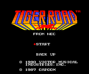 Tiger Road (USA) Screenshot