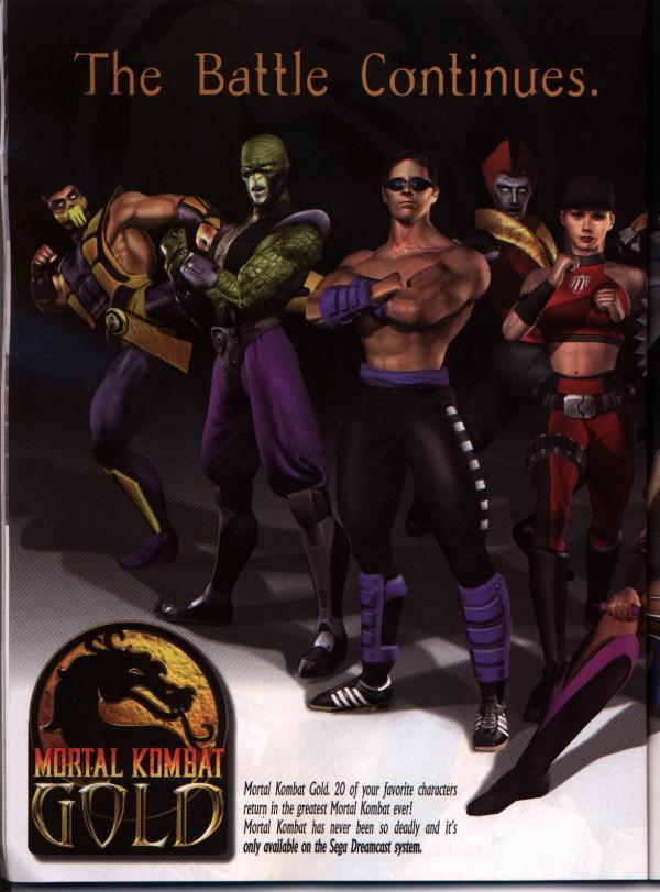 Mortal Kombat Gold (USA) ISO < DC ISOs | Emuparadise
