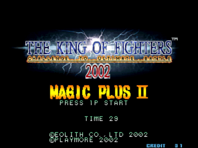 King of fighters 2002 magic plus 2 rom