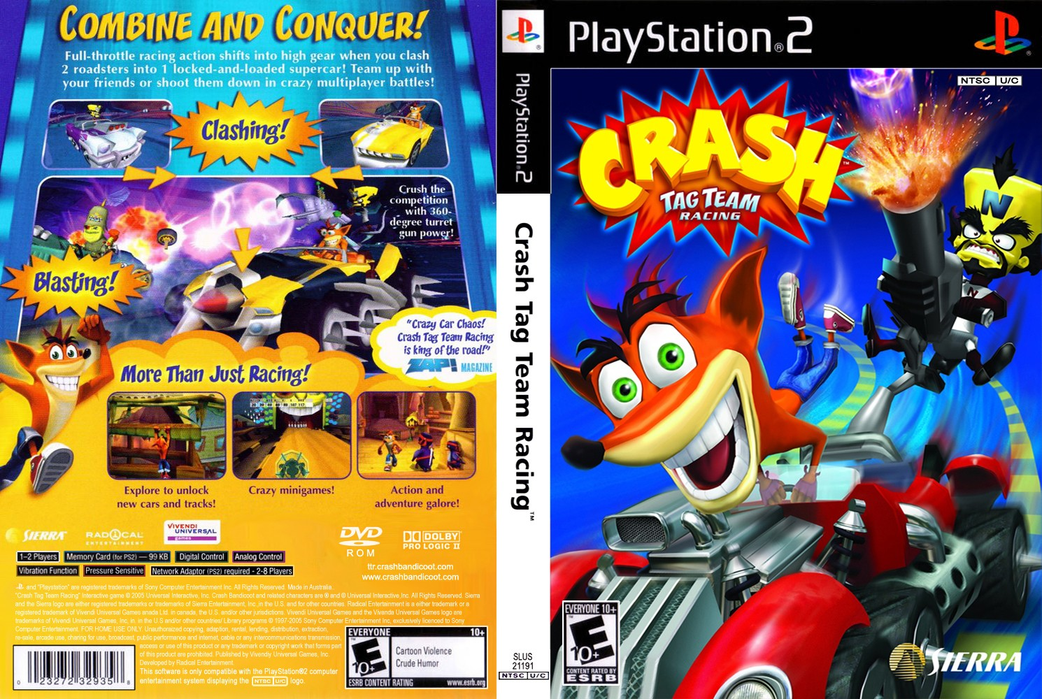 Crash Tag Team Racing (USA) ISO < PS2 ISOs | Emuparadise