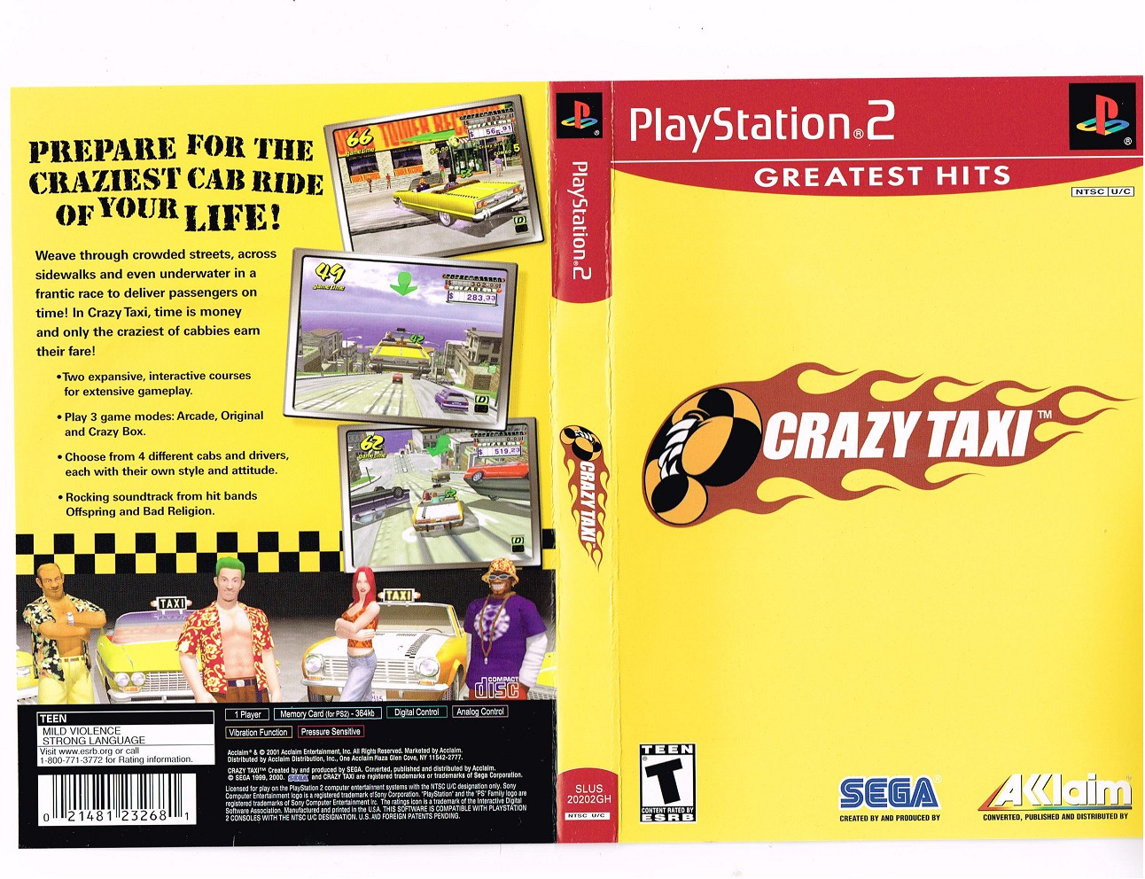 Crazy Taxi (USA) ISO < PS2 ISOs | Emuparadise