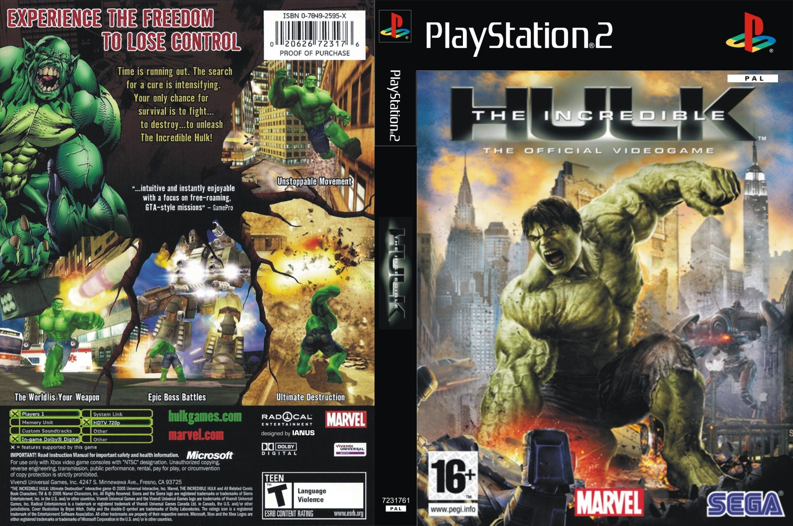 Incredible hulk, the (usa) iso < ps2 isos | emuparadise.