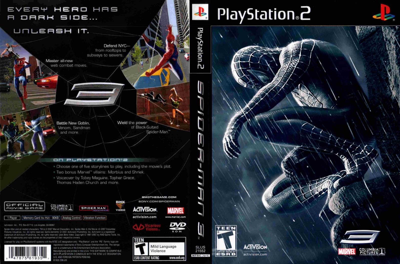 spider-man 3 (usa) iso < ps2 isos | emuparadise