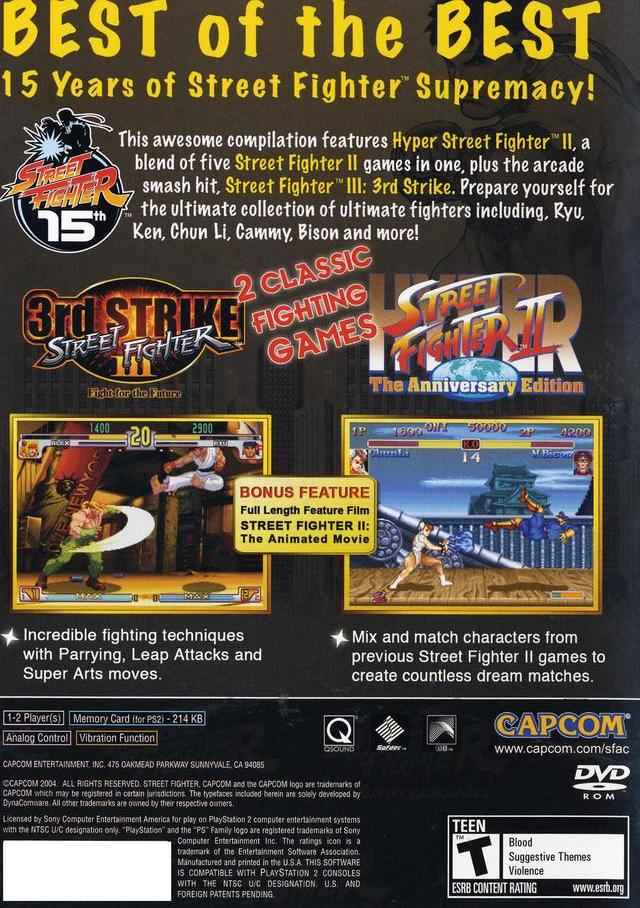 Street Fighter Anniversary Collection Usa Iso Ps2 Isos