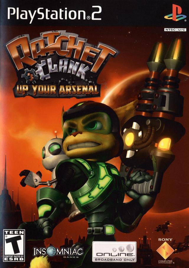 Ratchet Clank Up Your Arsenal Usa En Fr Es Iso Ps2 Isos
