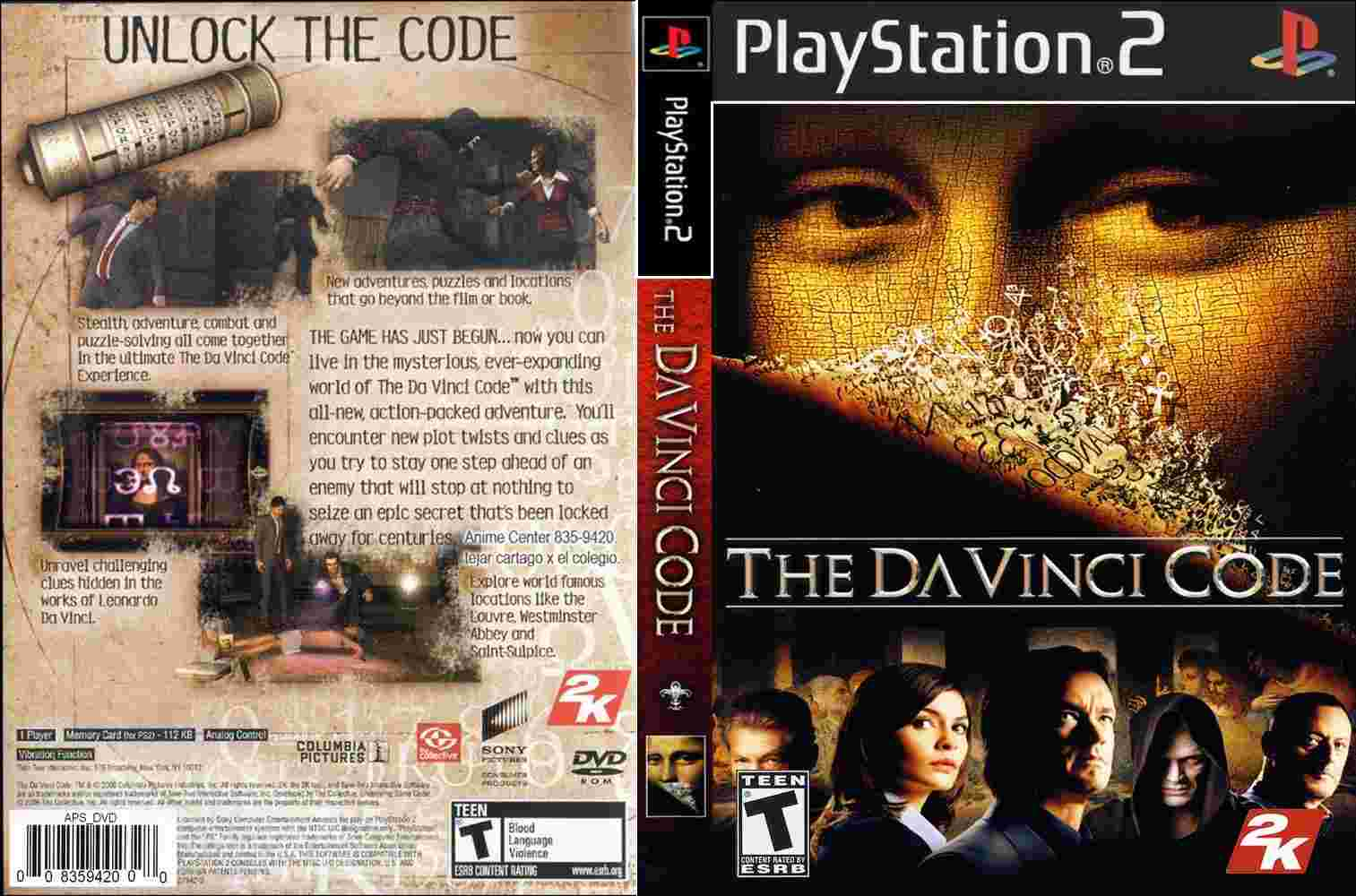 Da Vinci Code The Europe En Fr De Es It Iso Ps2 Isos Emuparadise
