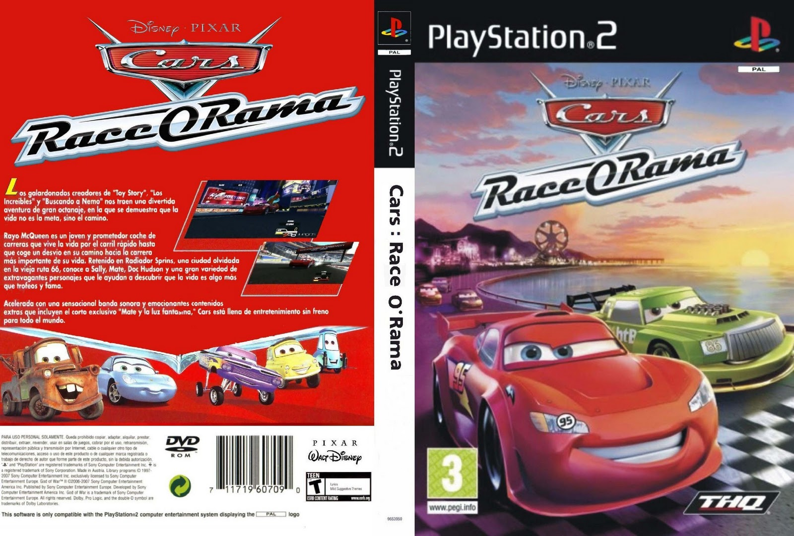 Disney Pixar Cars Race O Rama Europe En Fr De Es It Iso